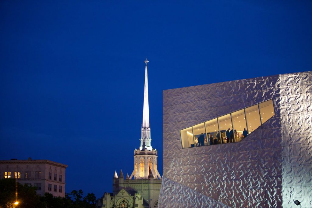 View of Walker Art Center at night