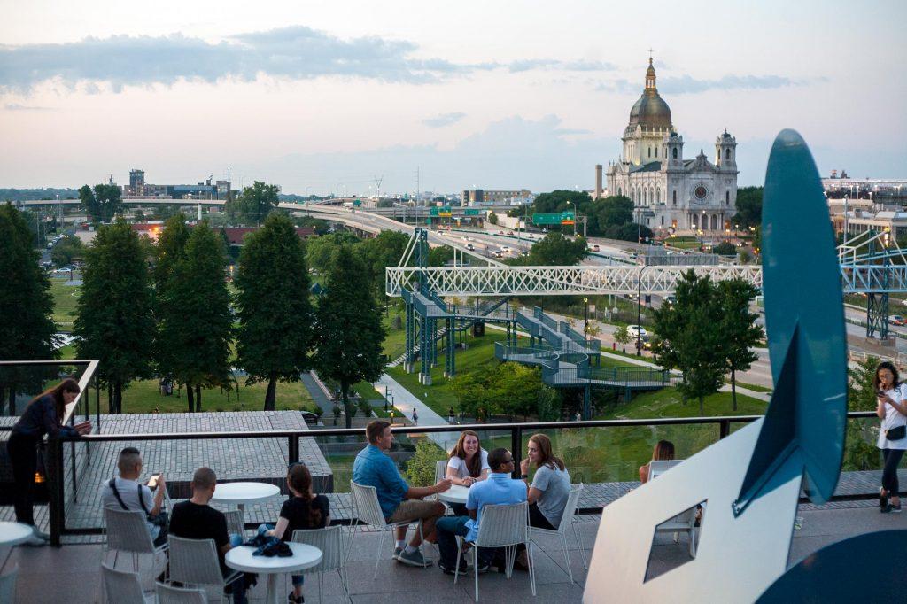 Event on terrace at Walker Art Center
