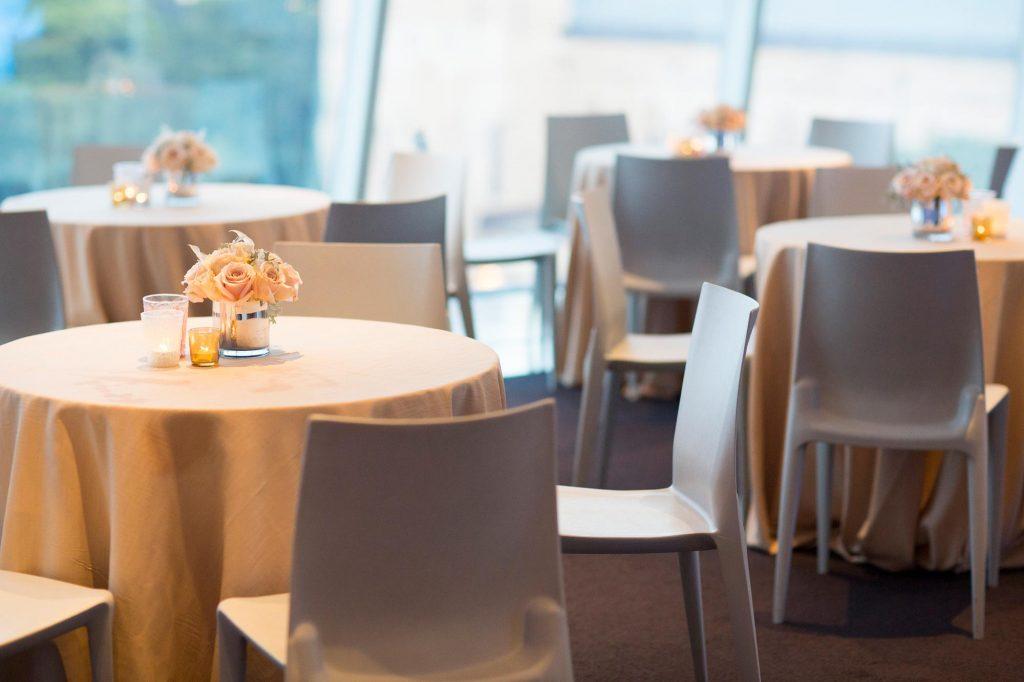 Photo: Wedding dinner setting at Walker Art Center