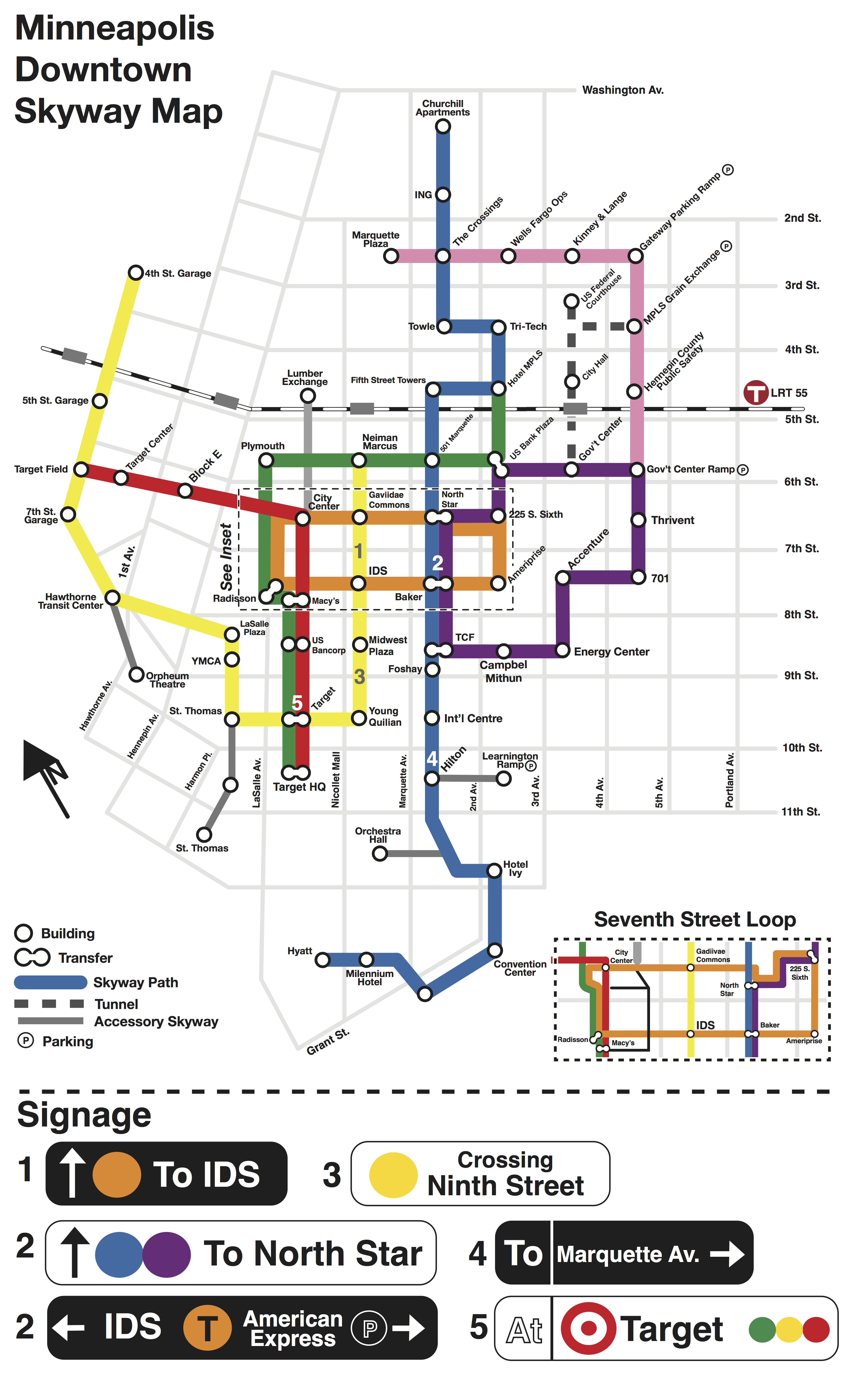 Downtown Minneapolis Skyway Map Minnesota by Design – Minneapolis Skyway Map